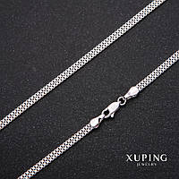 Цепочка Xuping плетение Квадрат Двойной L-45см s-3мм Родий