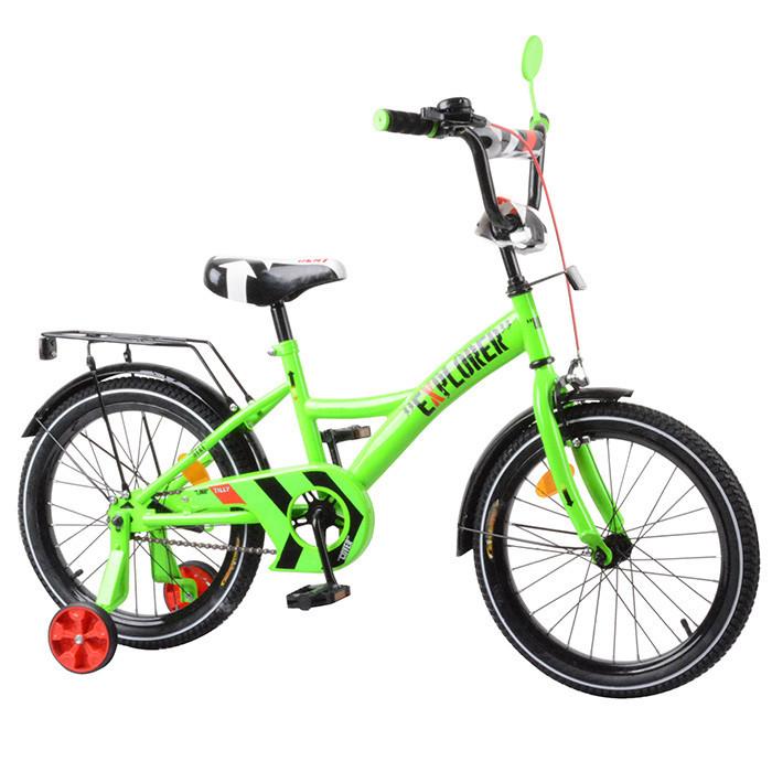 Велосипед дитячий двоколісний Tilly Explorer 18 дюймів T-21819 зелений