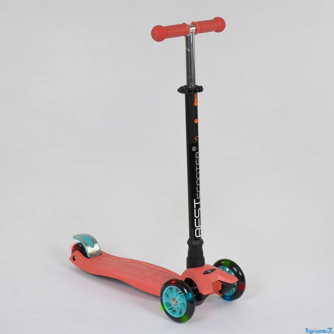 Детский трехколесный самокат Best Scooter 466-113/A 24439 MAXI терракотовый
