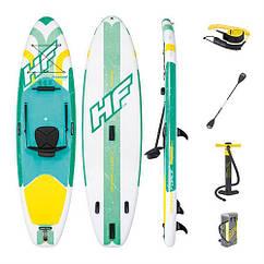 Надувная доска для плавания серфинга с веслом SUP-борд BESTWAY 65310