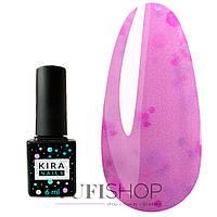 Гель-лак Kira Nails Yoghurt Boom! №011 - сиреневый сад с розово-лиловыми частичками, 6 мл