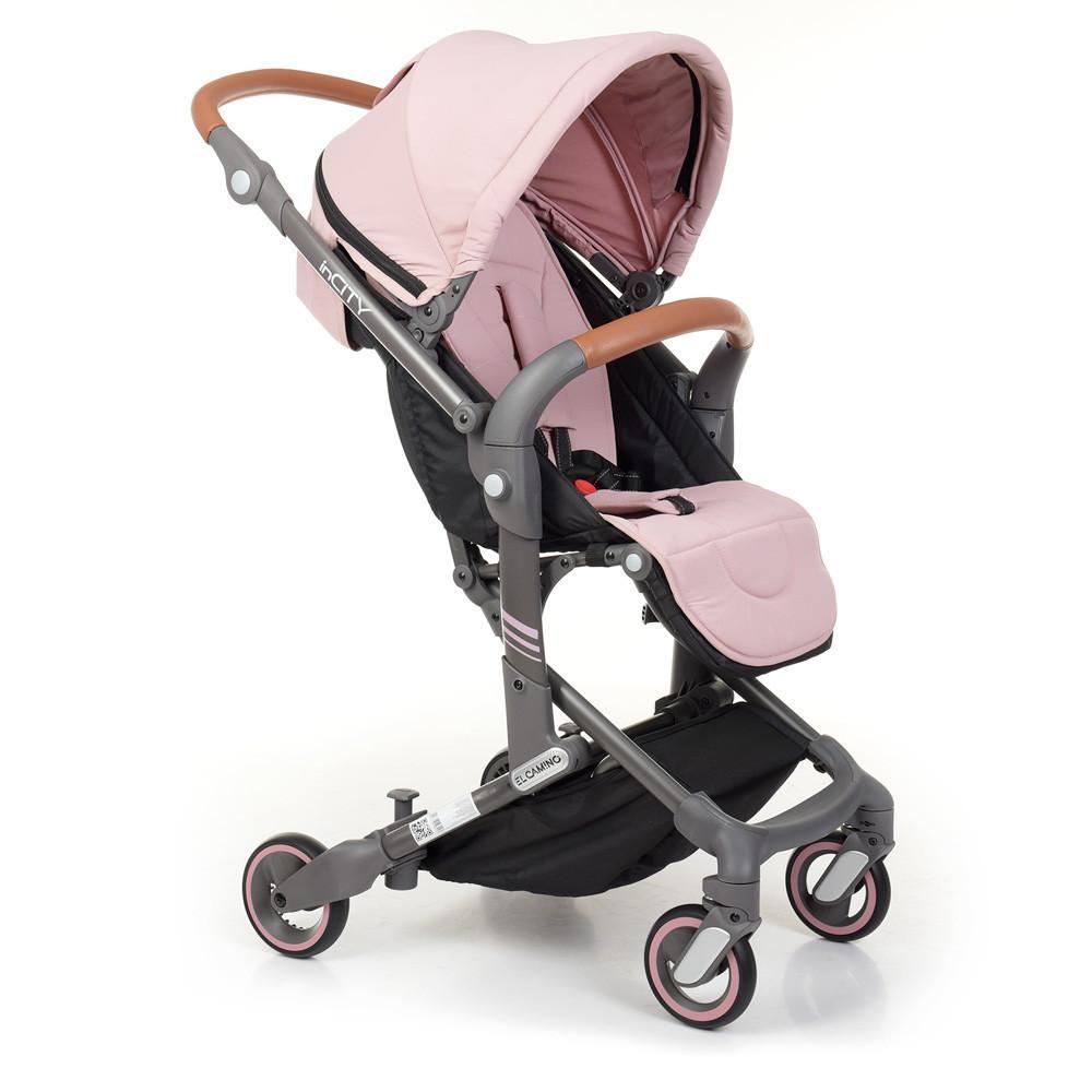 Коляска детская прогулочная INCITY ME 1068 Pale Pink розовый