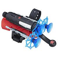 Игровое Оружие Человека-Паука съемные Браслеты-бластеры, стреляющие дротиками-паутиной на липучках, Spider-Man