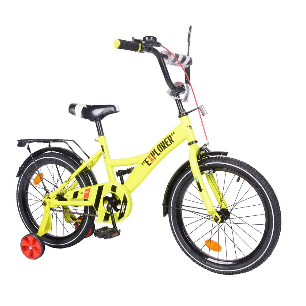 Велосипед дитячий двоколісний EXPLORER 18 дюймів T-218112 yellow жовтий
