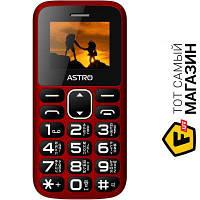 Astro A185 Red мобильный телефон недорогие, для пожилых людей классический gprs - красный