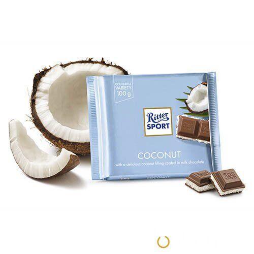 Молочный шоколад Ritter Sport Кокос 100 г