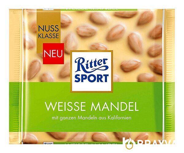 Белый шоколад Ritter Sport Цельный Миндаль 100 г