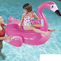 Надувний пліт для плавання Bestway 41099 «Фламінго», 145 х 121 см, фото 3