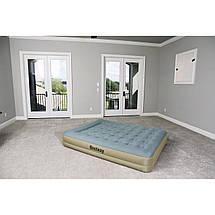 Надувне ліжко Bestway 69003 Refined Fortech, 203х152х33см, вбудований електронасос, фото 3