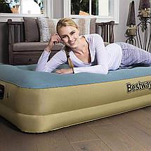 Надувная кровать Bestway 69001 Refined Fortech, 191х97х33см, встроенный электронасос, фото 3