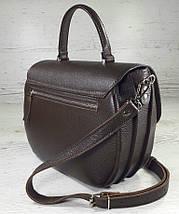 582-1 Натуральная кожа Сумка женская коричневая бежевая Кожаная сумка бежевая кожаная сумка кожаная шоколад, фото 3