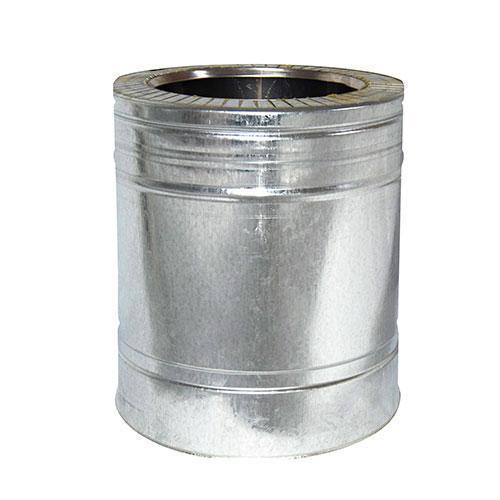Труба дымоходная 0,25 м нерж/оцинк ø220/280 мм (толщина 0,8 мм)