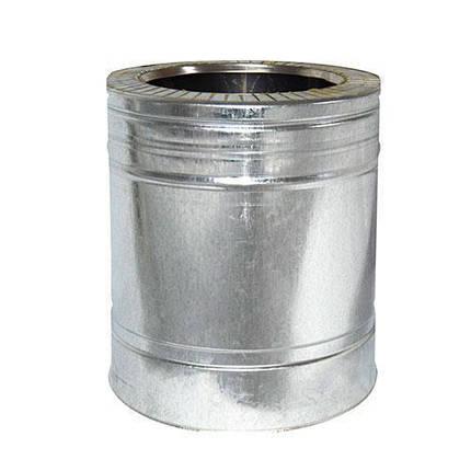 Труба дымоходная 0,25 м нерж/оцинк ø220/280 мм (толщина 0,8 мм), фото 2