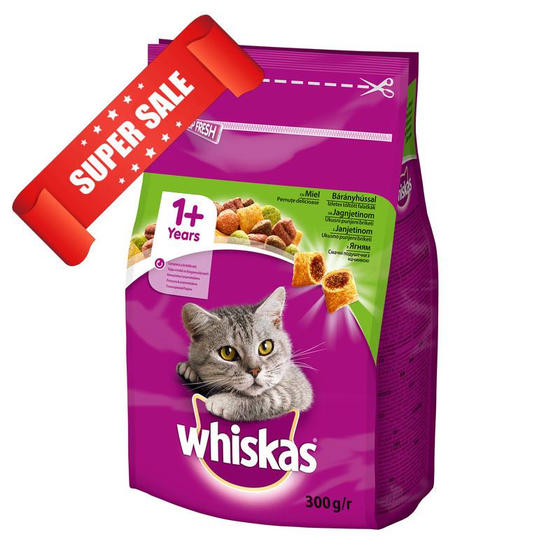 Сухой корм для кошек Whiskas с ягненком 300 г