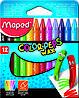 Мел восковый Мелки восковые COLOR PEPS Wax Crayons 12 цветов Maped MP.861011