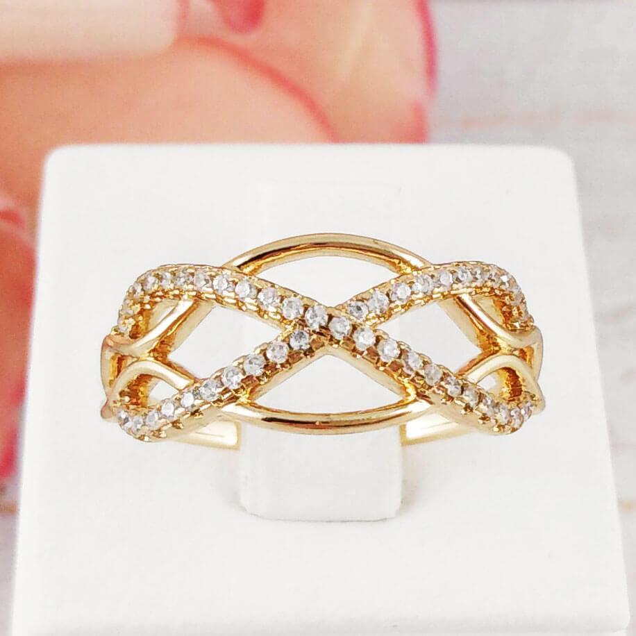 Кольцо Xuping Jewelry размер 18 Джилл медицинское золото позолота 18К А/В 2-0177