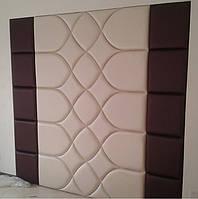 Мягкая стеновая панель - плитка ромб в ткани, коже, кожезаменителе на заказ Одесса