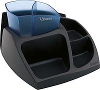 Набор настольный Подставка настольная ESSENTIALS GREEN Compact черная с синим Maped MP.575400