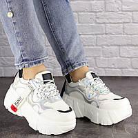 Женские стильные белые кроссовки Sabella 1390, фото 1