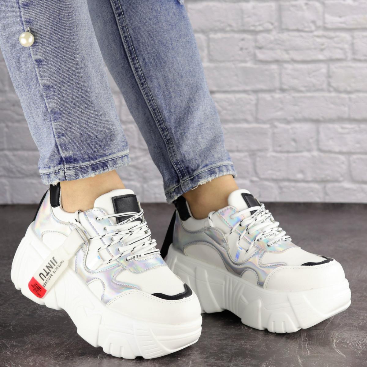 Женские стильные белые кроссовки Sabella 1390
