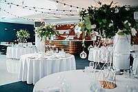 Продажа белых скатертей для круглого стола