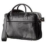 Мужской кожаный большой портфель для ноутбука SHVIGEL 19118 Черный, фото 2