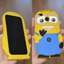 3D чехол бампер Миньйон силиконовый для Xiaomi Redmi 4x детский