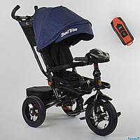 Велосипед детский трехколесный Best Trike 6088 F - 03-108 поворотное сиденье фара с USB синий