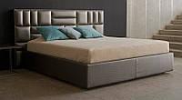 Современная Двуспальная Кровать Golden 160*200 с мягким изголовьем в форме плит на заказ в Одессе