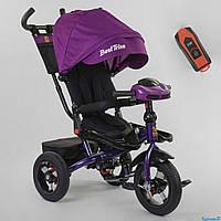 Велосипед детский трехколесный Best Trike 6088 F - 01-570 поворотное сиденье фара с USB малиновый