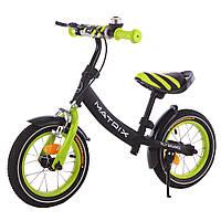 Беговел (велобег) детский BALANCE TILLY 12 дюймов Matrix T-21259 Green зеленый