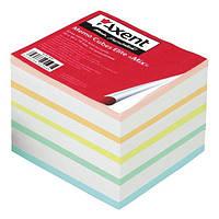 Блок бумаги для заметок Блок бумаги для заметок непроклеенный Elite Mix 90х90х70 мм Axent 8018-А