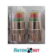 Колпачки для вентилей индикаторы давления в шинах 2 шт под давление 2,0 цена за комплект, фото 2