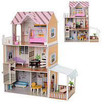Деревянный домик с мебелью для кукол (аналог KidKraft) арт. 2150