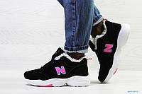 Зимние подростковые кроссовки New Balance 608,замшевые,черно-белые