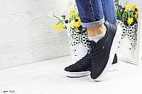 Подростковые,женские кроссовки Reebok Workout темно синие