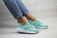 Женские весенние кроссовки Nike Air Huarache,сетка,мятные