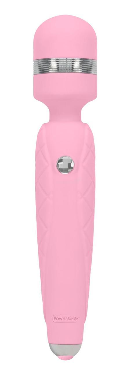 Роскошный вибромассажер PILLOW TALK - Cheeky Pink с кристаллом Сваровски