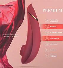 Вакуумный клиторальный стимулятор Womanizer Premium Red, фото 3