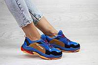 Женские,подростковые кроссовки Balenciaga(Баленсиага),синие