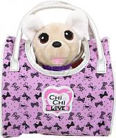 Детская Плюшевая Игрушка для Девочек Cобачка Чи Чи Лав Вояж путешественница сиреневая сумка Chi Chi Love Simbo