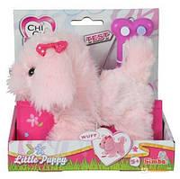 Детская Плюшевая Игрушка для Девочек Cобачка Чи Чи Лав Маленький Щенок розовый с косточкой Chi Chi Love Simbo