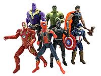 Набор Игровых Фигурок 7 в 1 Мстители Война бесконечности, высота 17 см, с подсветкой - Avengers, Infinity War*