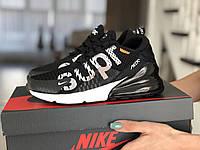 Женские кроссовки Nike Air Max 270 Supreme,черно-белые