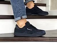 Мужские кроссовки Reebok,замшевые,темно синие