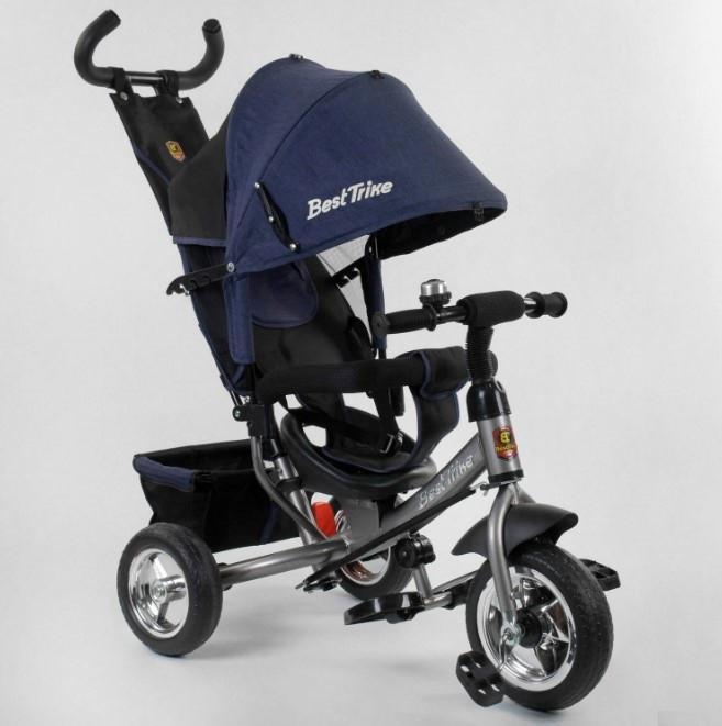 Велосипед трехколесный детский с родительской ручкой капюшоном колеса пена Best Trike 6588-26-011