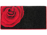 Купюрник из кожи ската ST 274 Black/Red Rose