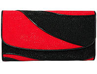 Кошелёк из кожи ската ST 52 DC Black/Fire Red