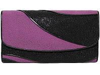 Кошелёк из кожи ската ST 52 DC Black/Purple