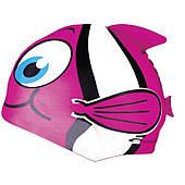 Шапочка для плавания детская Spokey Rybka (87469), розовая
